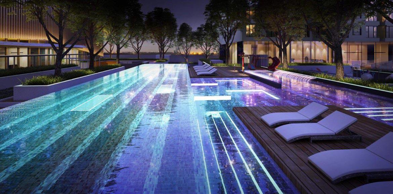 Tiện ích hồ bơi dự án căn hộ chung cư Define Quận 2 Đường Thạnh Mỹ Lợi chủ đầu tư Captaland