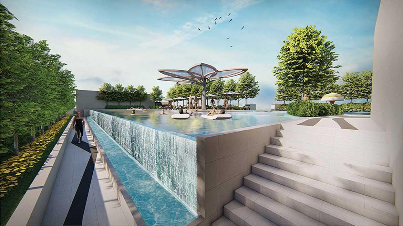 Tiện ích hồ bơi dự án căn hộ chung cư La Cosmo Residences Quận Tân Bình Đường Hoàng Văn Thụ chủ đầu tư An Gia Hưng