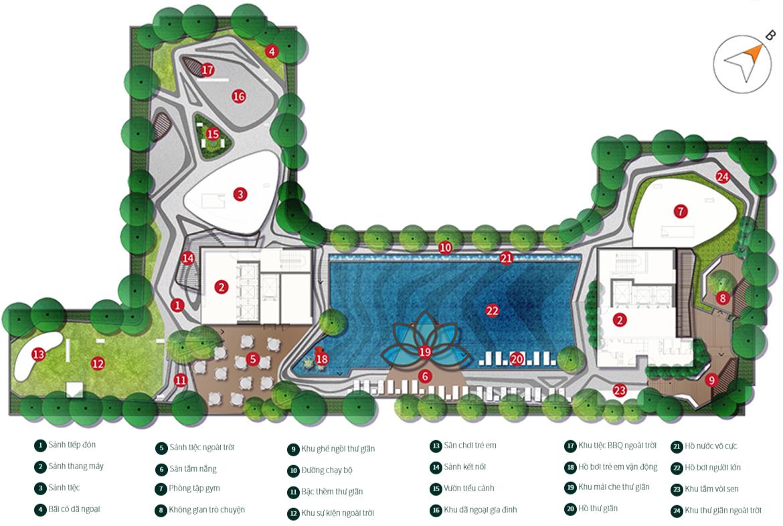 Tiện ích sân thượng tầng 26 dự La Cosmo Residence Quận Tân Bình