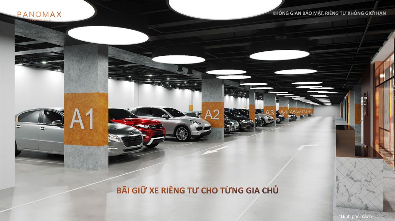 Chỗ đậu xe riêng cho mỗi hộ tại dự án River Panomax River Villa đường Đào Trí Quận 7