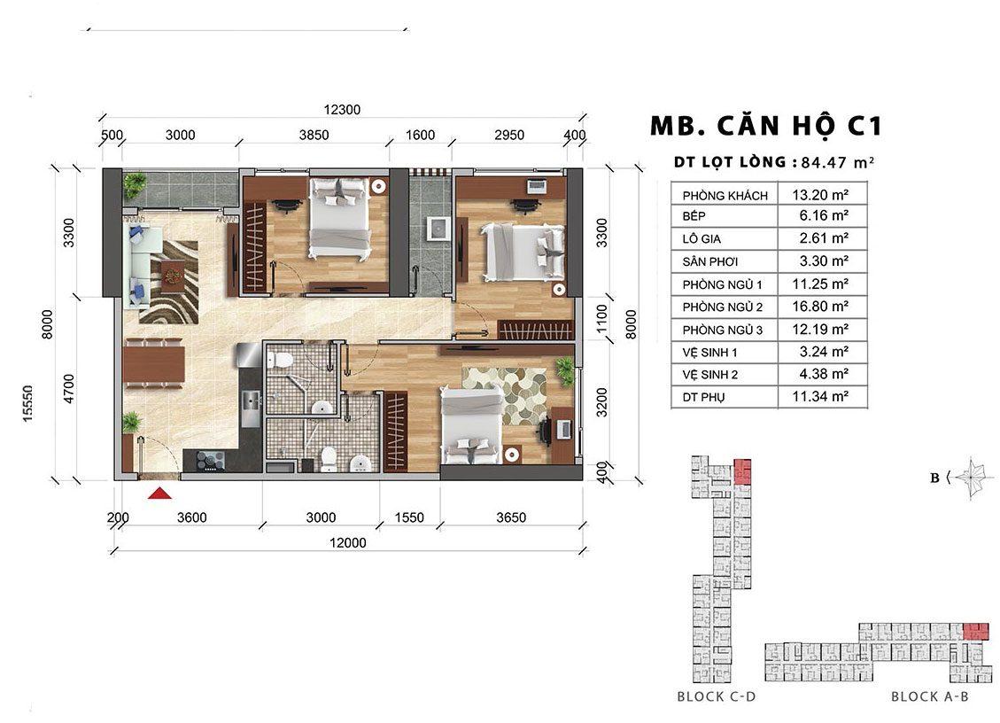 Thiết kế căn hộ Charmington Iris