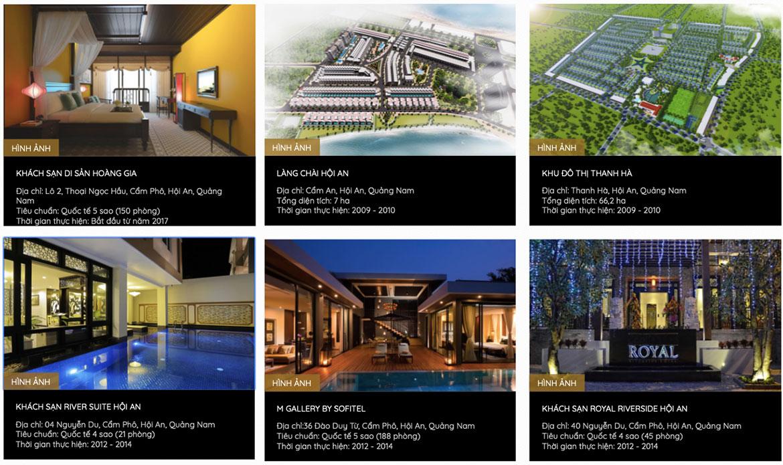 Các dự án mà chủ đầu tư Shanturia Villas đã triển khai