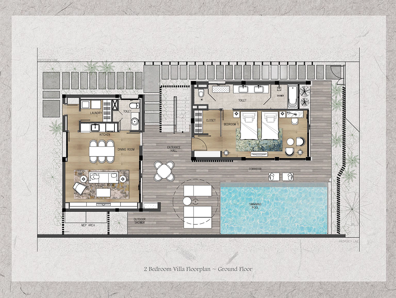 Thiết kế chi tiết biệt thự shantira hội an