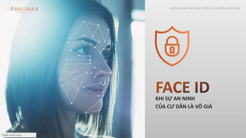 Tiện ích bảo mật Face ID nhận diện nhanh khuôn mặt tại dự án River Panomax River Villa đường Đào Trí Quận 7