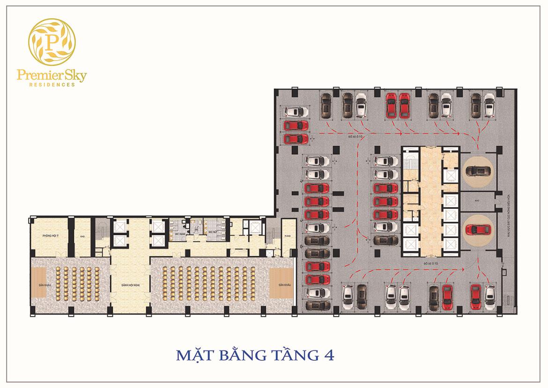 Mặt bằng dự án căn hộ chung cư Premier Sky Residences Da Nang Đường Võ Nguyên Giáp chủ đầu tư Minh Đông