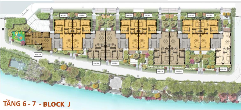 Mặt bằng tầng 6-7 căn hộ Panomax River Villa Block J đường Đào Trí Quận 7