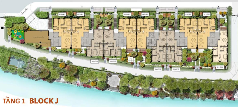 Mặt bằng tầng 1 căn hộ Panomax River Villa Block J đường Đào Trí Quận 7