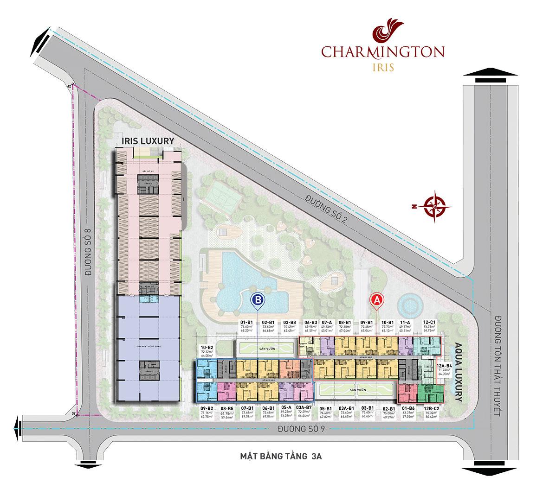 Mặt bằng chi tiết dự án Charmington Iris - Tầng 4