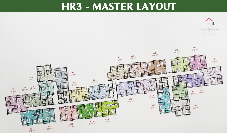 Mặt bằng thiết kế Block HR3 dự án căn hộ Eco Green Sài Gòn Quận 7