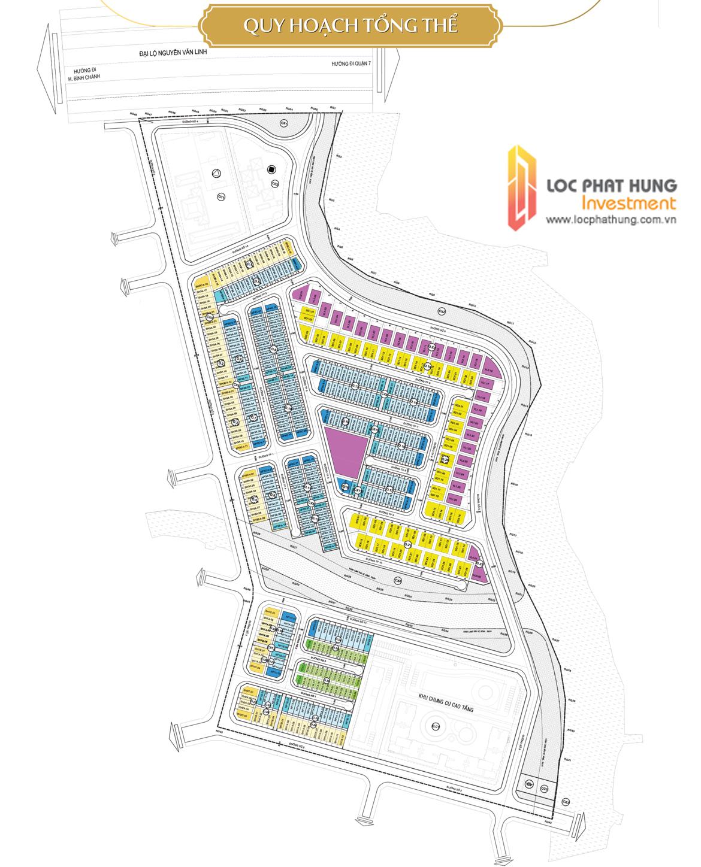Mặt bằng phân lô và sơ đồ vị trí căn hộ, nhà phố , biệt thự Senturia Nam Sài Gòn Bình Chánh