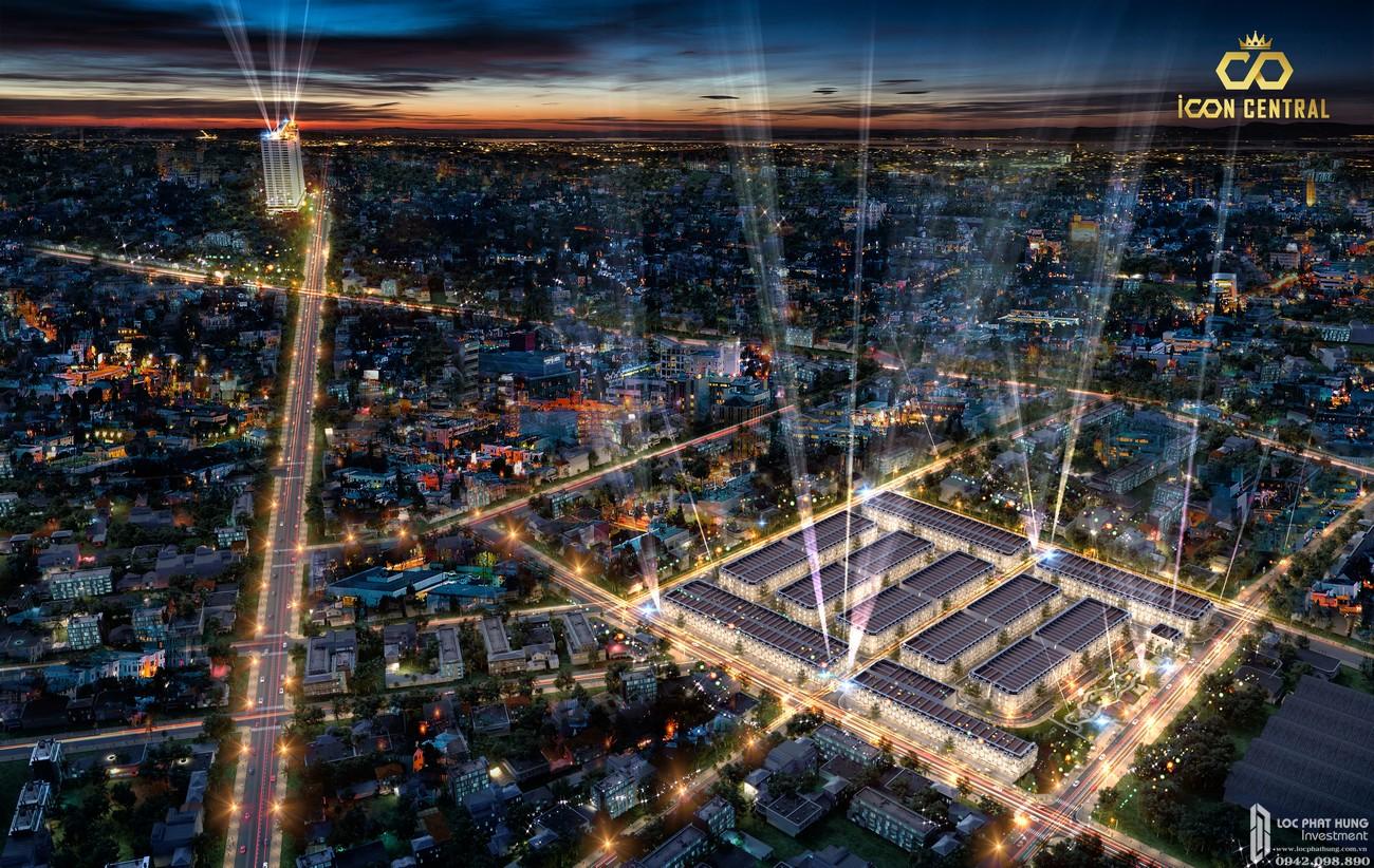 Mặt bằng dự án đất nền nhà phố Icon Central Dĩ An Bình Dương chủ đầu tư Phú Hồng Thịnh