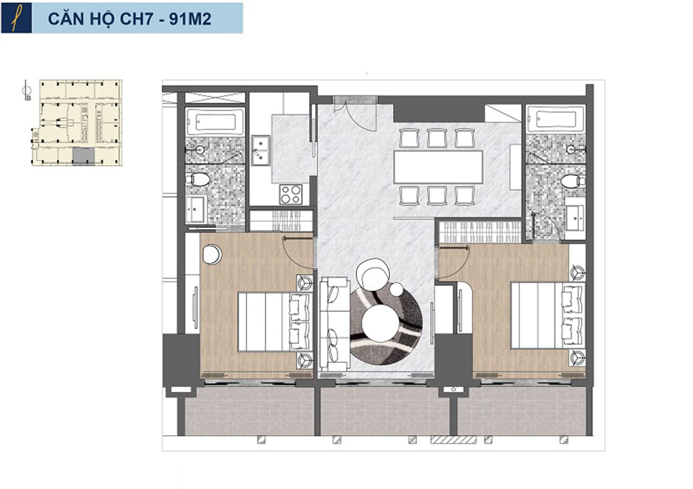 Thiết kế các căn hộ tại Premier Sky REsidences