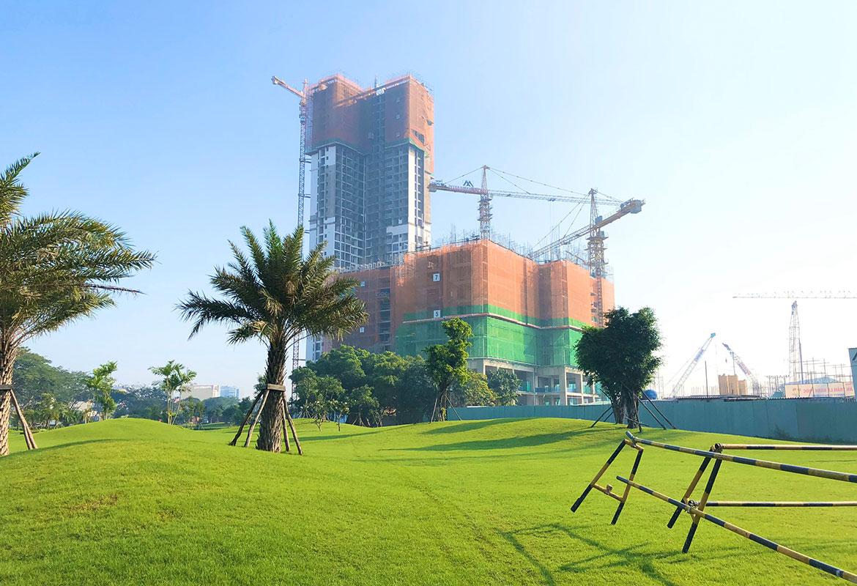 Tiến độ xây dựng eco green tháng 10 cụm HR2