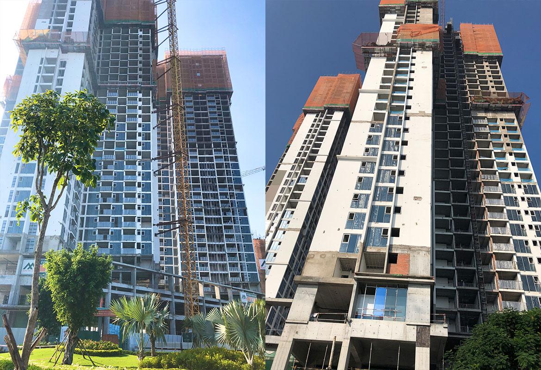 Tiến độ dự án căn hộ chung cư Eco Green Sài Gòn toà HR1