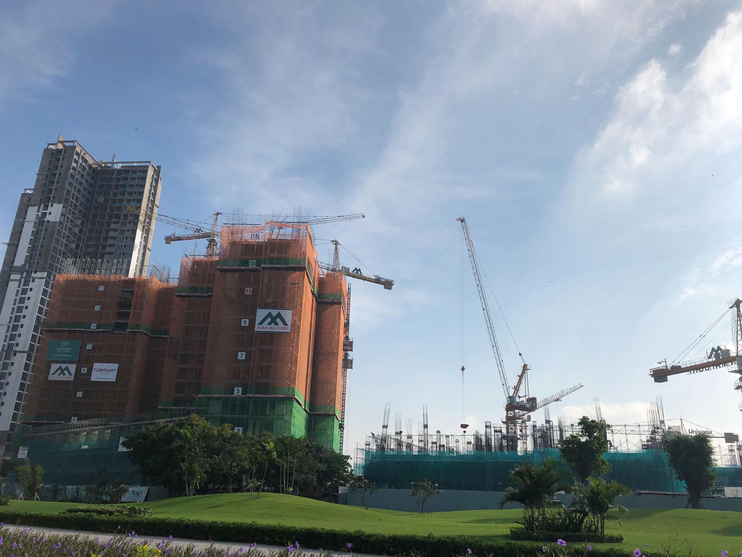 Tiến độ XÂy dựng căn chung cư eco green