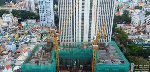 Tiến độ xây dựng dự án căn hộ chung cư The Marq tháng 08/2019
