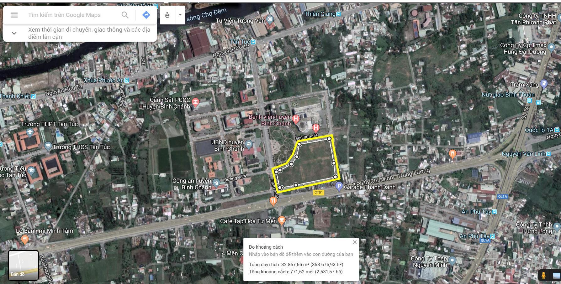Vị trí địa chỉ dự án căn hộ chung cư West Gate Park Bình Chánh