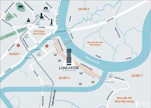 Vị trí địa chỉ dự án căn hộ chung cư Lancaster Lincoln Quận 4