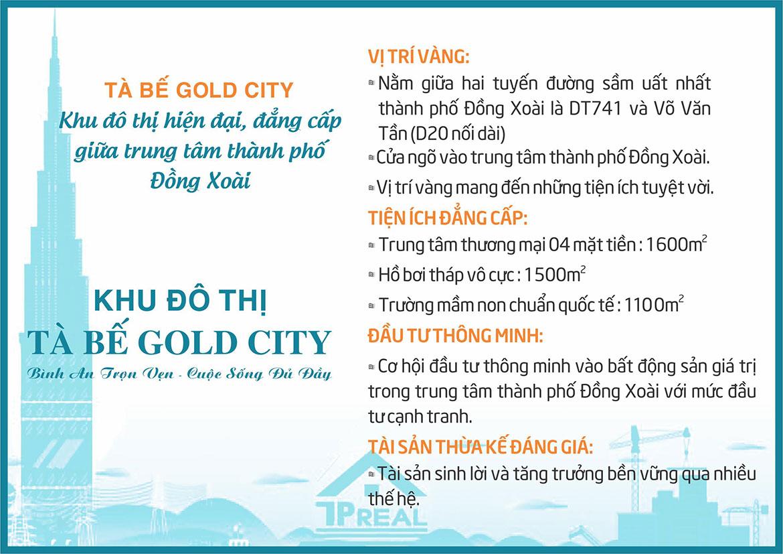 Vị trí địa chỉ dự án đất nền Tà Bế Gold City