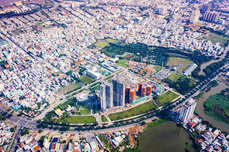 Khung cảnh Eco Green Saigon từ trên cao