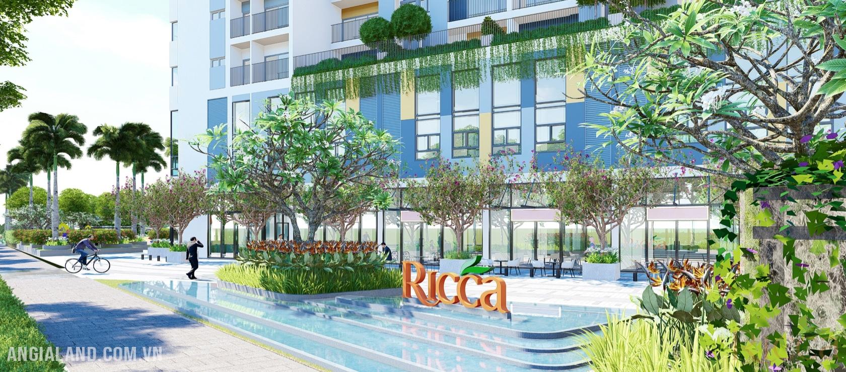 Cổng chào dự án căn hộ chung cư Ricca Quận 9