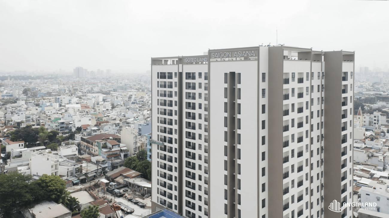 Toàn ảnh Sai Gon Asiana Quận 6 hướng vê quận 1