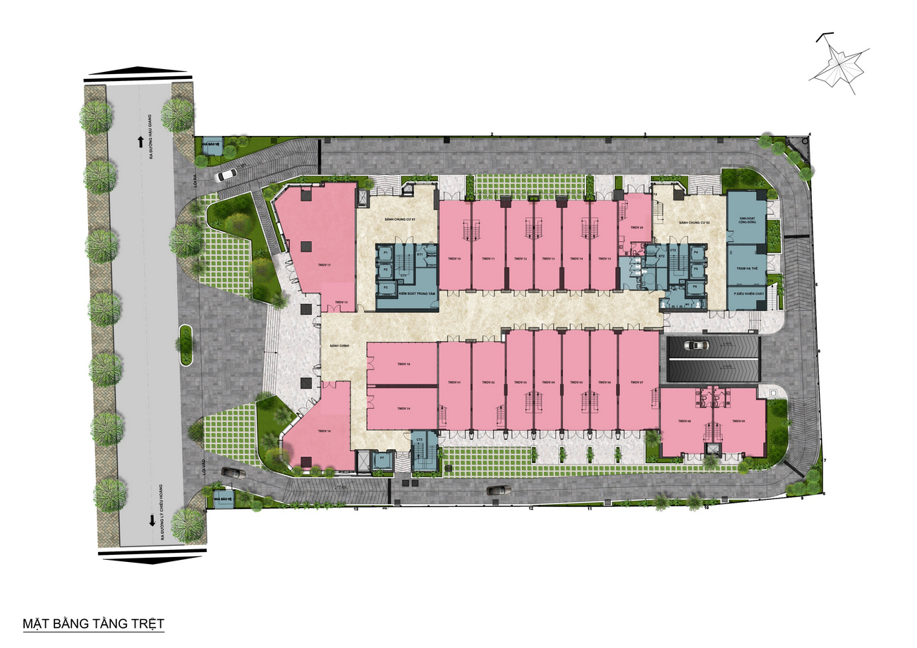 Mặt bằng tầng lửng dự án căn hộ chung cư Asiana Capella đường Trần Văn Kiểu Quận 6