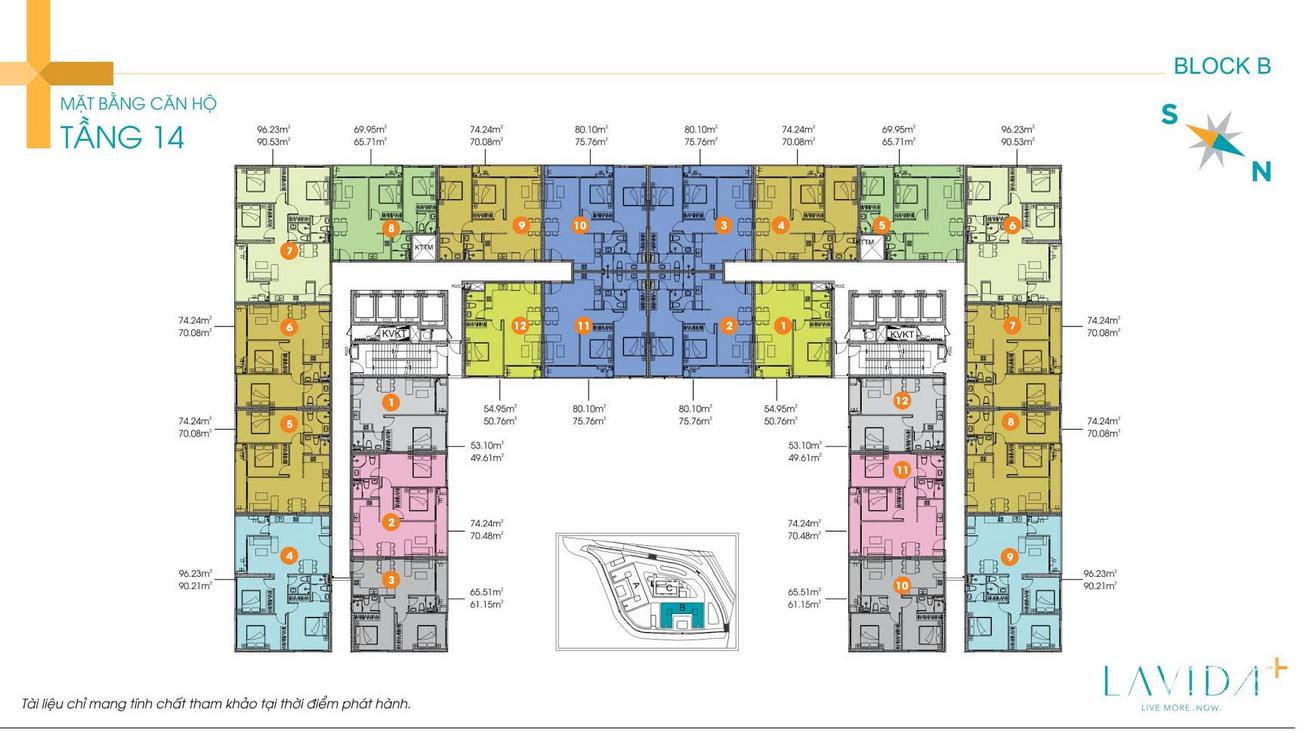 Mặt bằng dự án căn hộ Lavida Plus chủ đầu tư Quốc Cường Gia Lai