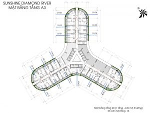 Mặt bằng chi tiết tòa A3 dự án Sunshine Diamond quận 7