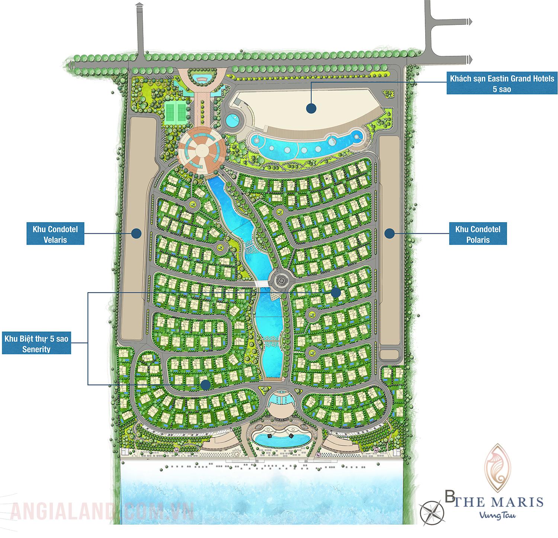 Mặt bằng tổng quan dự án biệt thự condotel The Maris Vũng Tàu