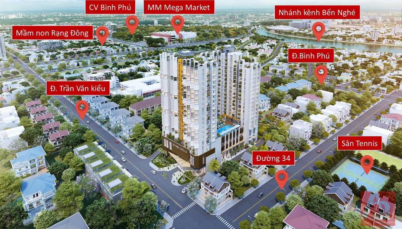 Phối cảnh dự án căn hộ chung cư Asiana Capella đường Trần Văn Kiểu, Quận 6