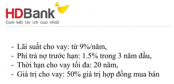 Ngân hàng HD BANK hỗ trợ vay dự án Aria Vũng Tàu