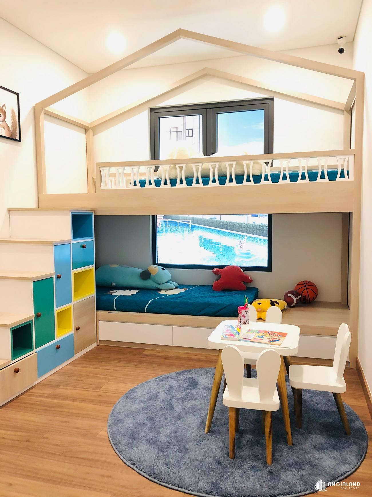 Thiết kế phòng ngủ nhỏ nhà mẫu 67m2 Saigon Asian