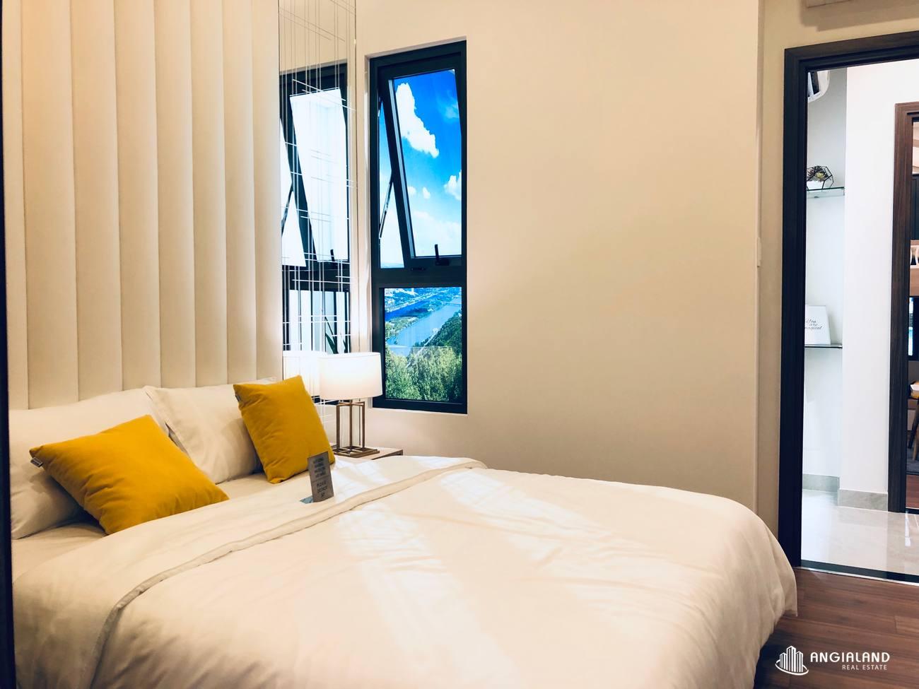 Thiết kế phòng ngủ Master nhà mẫu 67m2 Saigon Asian