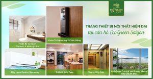 Hệ thống trang thiết bị đẳng cấp quốc tế tại căn hộ Eco Green Sài Gòn