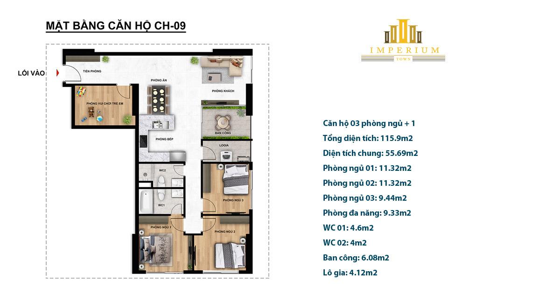 Thiết kế chi tiết dự án căn hộ Imperium Town Nha Trang Khánh Hòa