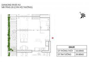 Thiết kế chi tiết căn hộ tòa A3 dự án Sunshine Diamond River quận 7