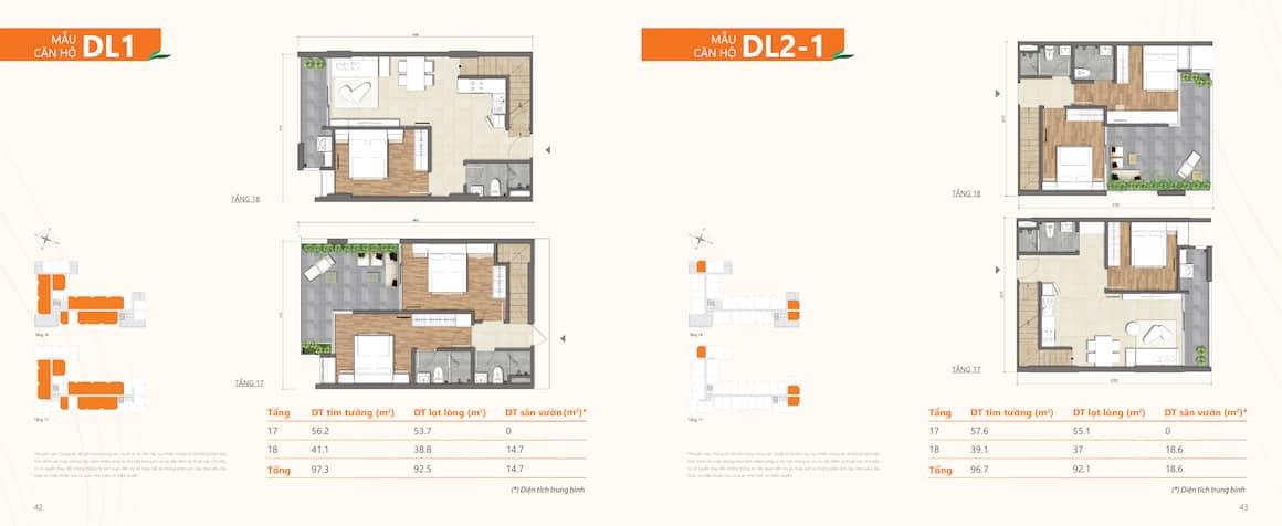Thiết kế dự án căn hộ Ricca Quận 9 loại căn Duplex