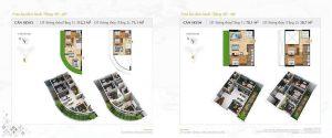 Thiết kế chi tiết căn hộ tòa D1, D2 dự án Sunshine Diamond River quận 7