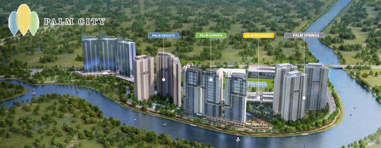 Phối cảnh tổng thể phân khu Palm City Quận 2