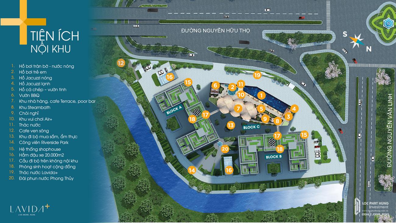Tiện ích dự án căn hộ Lavida Plus chủ đầu tư Quốc Cường Gia Lai