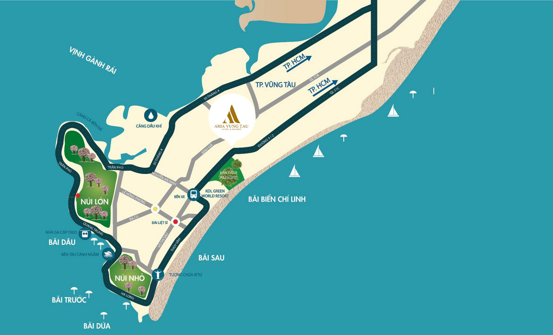 Vị trí dự án Aria Vũng Tàu Hotel & Resort