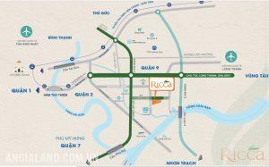 Vị trí địa chỉ dự án căn hộ chung cư Ricca Quận 9