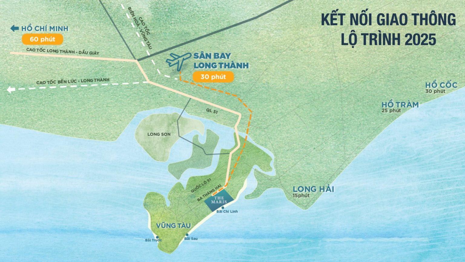 Vị trí địa chỉ dự án The Maris Vũng Tàu