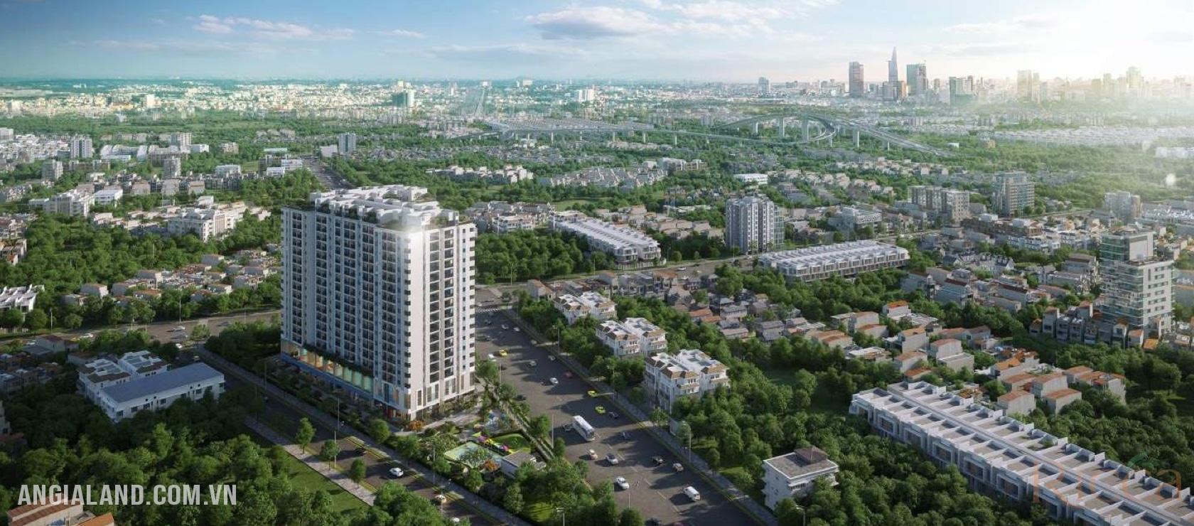 Phối cảnh vị trí dự án căn hộ Ricca Quận 9