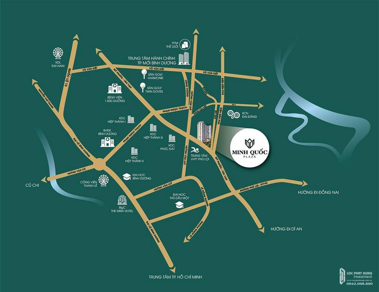Vị trí dự án Minh Quốc Plaza