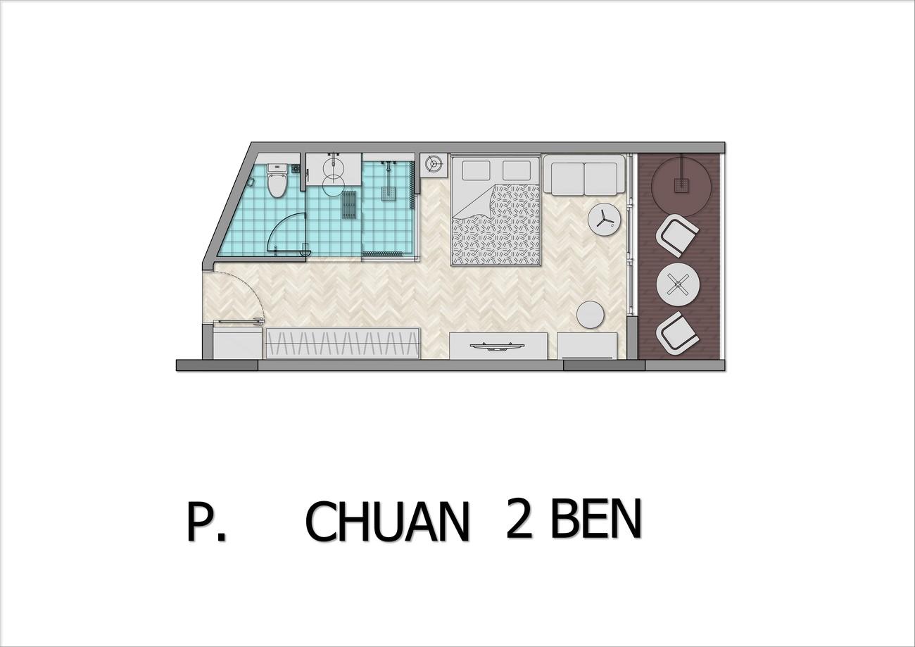 Thiết kế căn hộ Standard dự án condotel Arena Cam Ranh