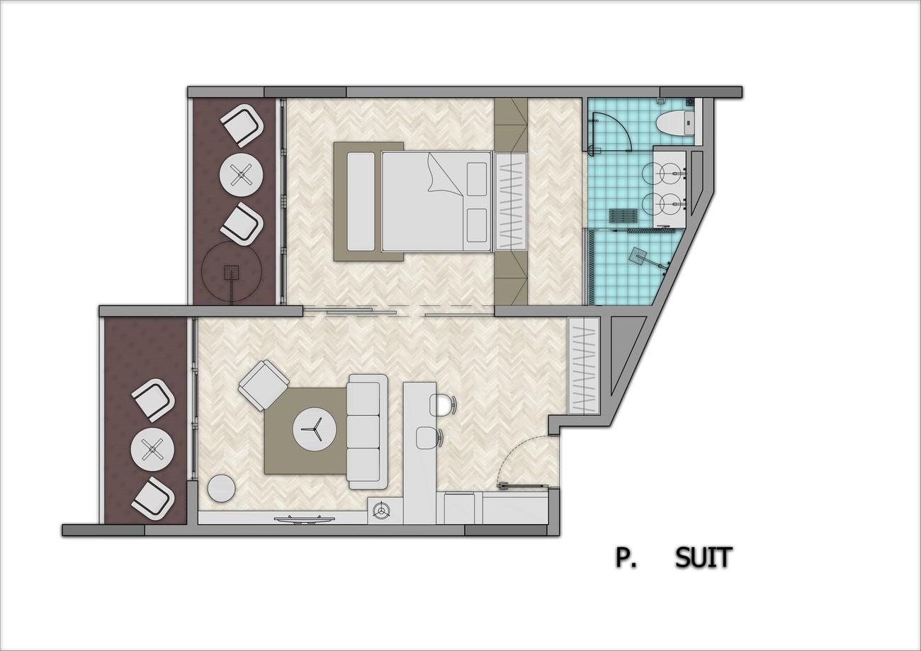 Thiết kế căn hộ Suite dự án condotel Arena Cam Ranh