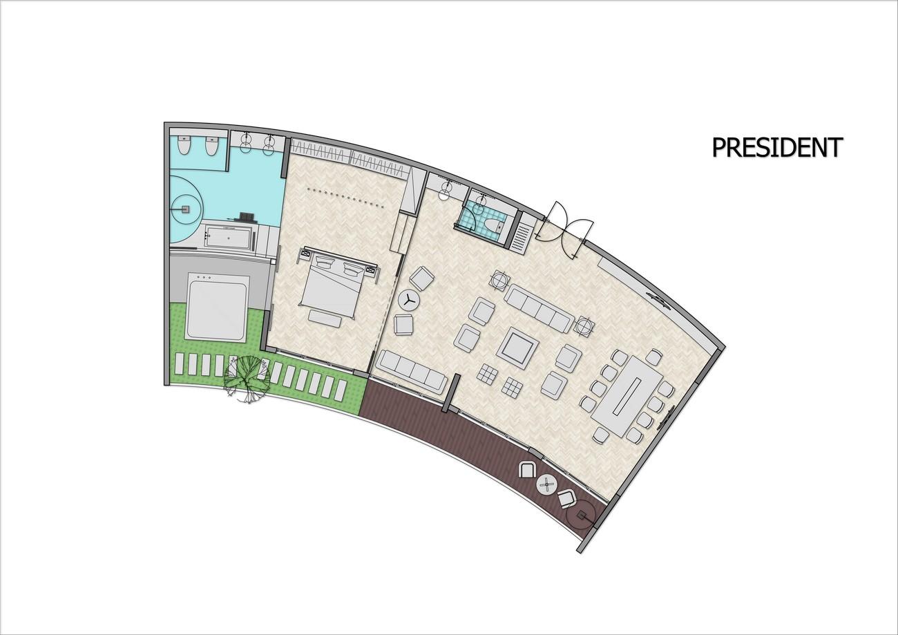 Thiết kế căn hộ President dự án condotel Arena Cam Ranh
