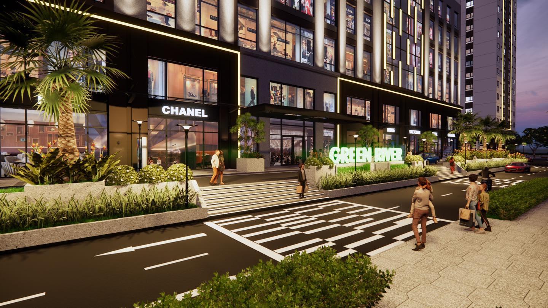 Trung tâm thương mại 4 tầng tại căn hộ chung cư Green River Phạm Thế Hiển Quận 8